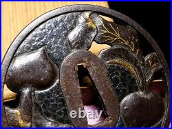 SUPERB KATANA TSUBA KYO-SHOAMI 17thC Japanese Original Edo Antique Sword fitting