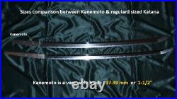 SUPERB MASSIVE VERY WIDE KOTO KATANA by KANEMOTO ca. 1570 Japanese Sword Tsuba