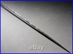 SUPERB MIURA-Clan's KAMON SUKASHI Long Arrowhead Japanese Edo Original Antique