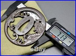 SUPERB NBTHK Certificated Dragon TSUBA SIGNED 18-19thC Japanese Edo Antiquque