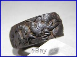 SUPERB SIGNED Large Dragon FUCHI Japanese Edo SOTEN Original Antique Koshirae