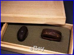 SWORD & KABUTO FUCHI/KASHIRA 18-19thC Japanese Edo Antique Koshirae fitting e907