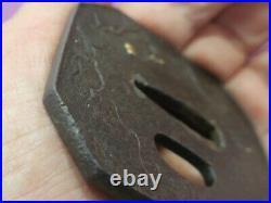 Squirrel 6.9cm 98.8g Iron Japanese Tsuba Samurai Katana Sword Guard Antique used
