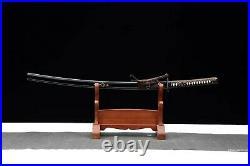 T10 Clay Tempered Steel Handmade Samurai Katana Sword iron Tsuba blade sharp
