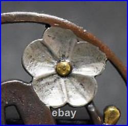 TSUBA Japanese sword guard / Plum in full bloom Samurai Edo Antique JAPAN