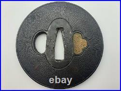 TSUBA Samurai Sword Guard Japanese Katana Blade Antique Edo