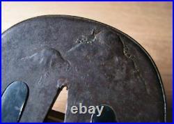 TSUBA Sword Blade Samurai Japanese Antique Japan n167