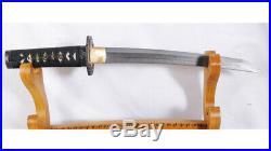 Tanto Damascus 1095 Carbon Steel Japanese Short Sword Iron Dragon Tsuba Sharp