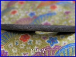 Tsuba Antique Iron Unfumed Cloud Dragon Japanese Sword Katana Menuki