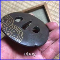Tsuba, Gosho Guruma, Japanese Antique, Edo Period, samurai, katana, Sword guard