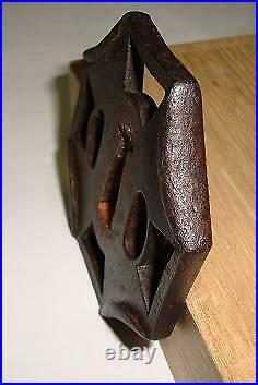 Tsuba Sword Guard Blade Katana Samurai Japanese Antique length 7.1cm used item