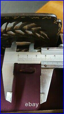 Tsuba original EDO, iron, Kakugata, Japanese sword Samurai, koshirae, very rare