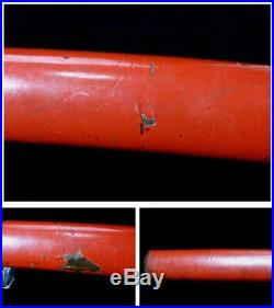 VG89 Japanese Antique Higo koshirae sheath Shark leather Tsuba Kashira # sword