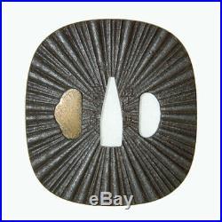 Vintage Japanese Iron Tsuba Edo Era Certificate Free Shipping Japan 149