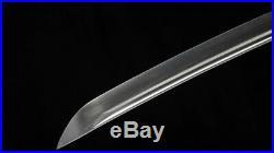 Wakizashi Japanese Sword 1095 High Carbon Steel Full Tang Iron Tsuba Sharp