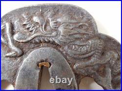 YI560 TSUBA Samurai Sword guard Japanese Katana Blade Vintage antique Art